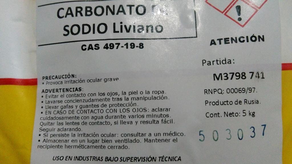 Carbonato De Sodio X Kg Almagro Envios Soda Solvay