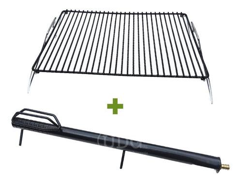 carbonfuego quemador encender carbón + parrilla env gratis