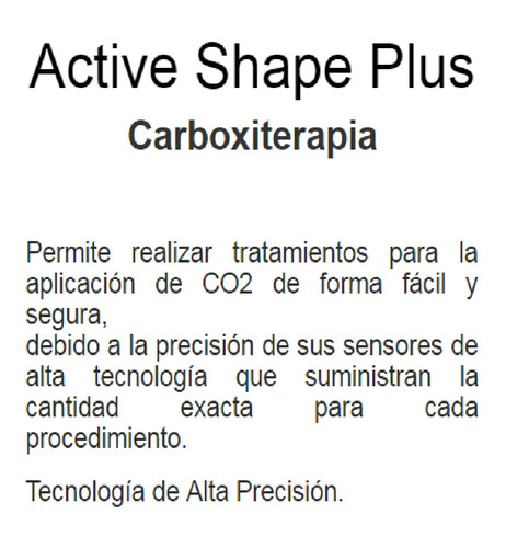 carboxiterapia-active shape plus,equipos para estética