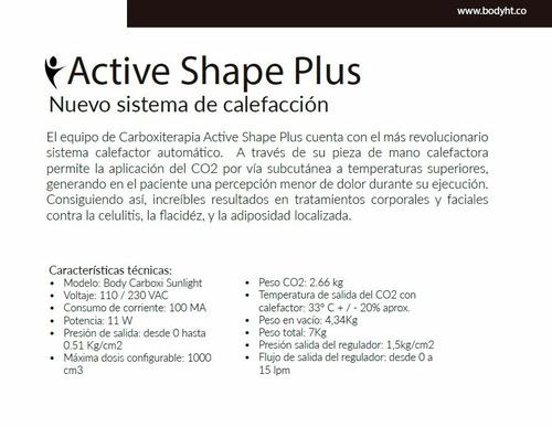 carboxiterapia, actives shape plus,equipos de estética