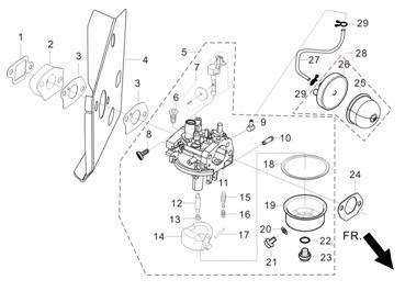 carburador completo motor gv400 gv600 kawashima