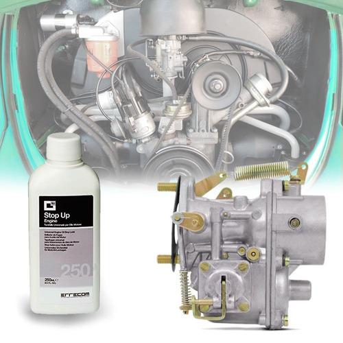 carburador kombi 69 a 80 fusca 1300 gas simples + stop up