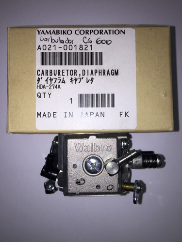 carburador motosierra echo cs-600 walbro 100% japon