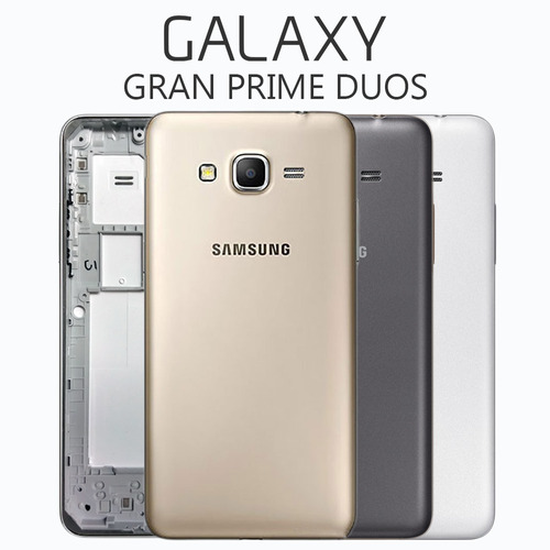 carcaça aro galaxy gran prime duos g530 tampa traseira s/ tv