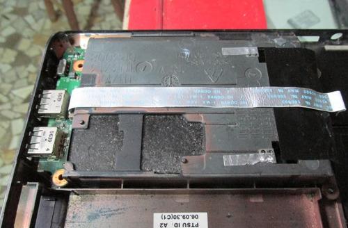 carcaça base chassi c/ placa usb notebook toshiba a105-s4334