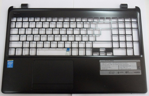 carcaça base frontal touchpad acer e1 572