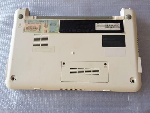 carcaca base hp mini 110 branco com astes dobradicas