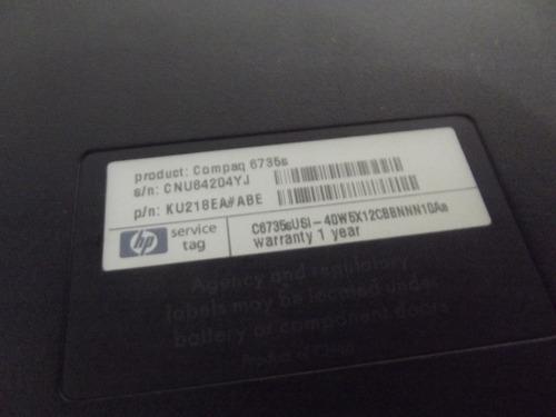 carcaça base inferior notebook hp compaq 6735s