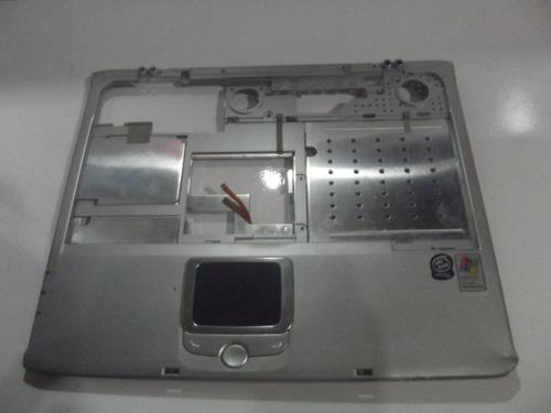 carcaça base superior e touchpad notebook ecs green550