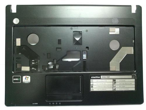 carcaça base superior notebook emachines d442 - v081 - usada