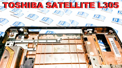 carcaça chassi inferior toshiba satellite l305 séries