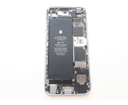 carcaça chassi iphone 6s cinza 100% original usado completo