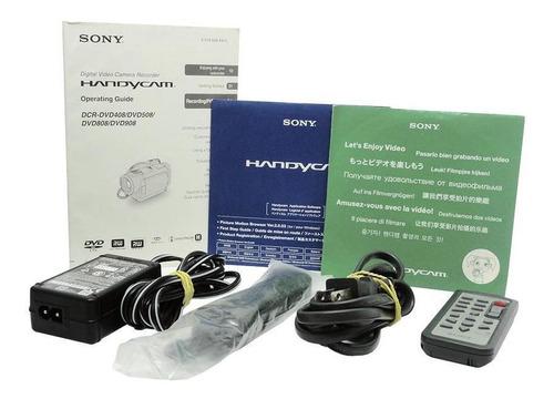 carcaça câmera lcd sony dcr-dvd508 6.1 mp usada com defeito