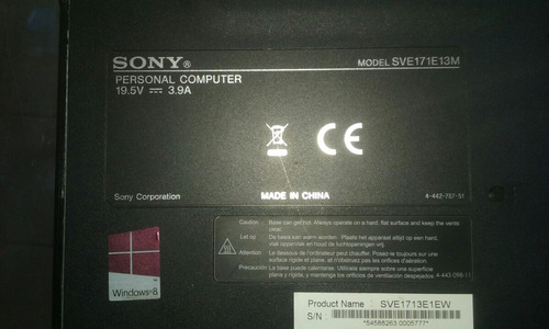 carcaça completa do notebook sony vaio sve171e13m
