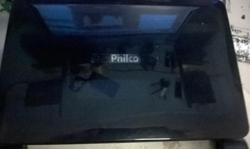 carcaça completa netbook philco black piano