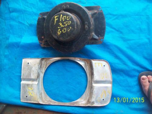 carcaça de farol para ford f 350 f 600 com aro 69 70