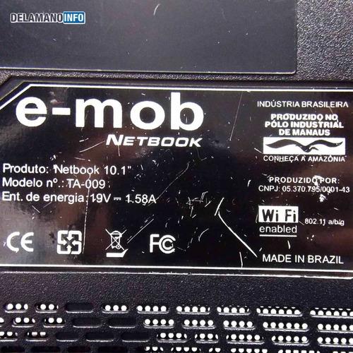 carcaça face d netbook e-max emob ta-009 usada (1582)