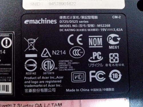 carcaça flat cooler outros emachines d725/d525 ms2268
