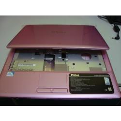 carcaça inferior base netbook philco rosa