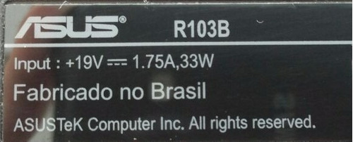 carcaça inferior netbook asus r103b