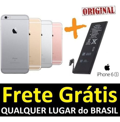 carcaça iphone 6s normal traseira chassi + bateria original aro - leia logo abaixo a descrição do anúncio!