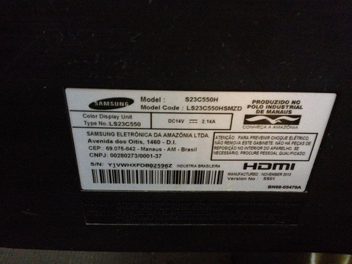 carcaça monitor samsung s23c550h