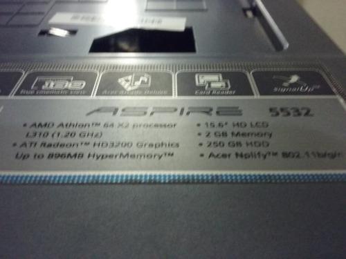 carcaça notebook acer aspire 5532, ou partes separadas etc