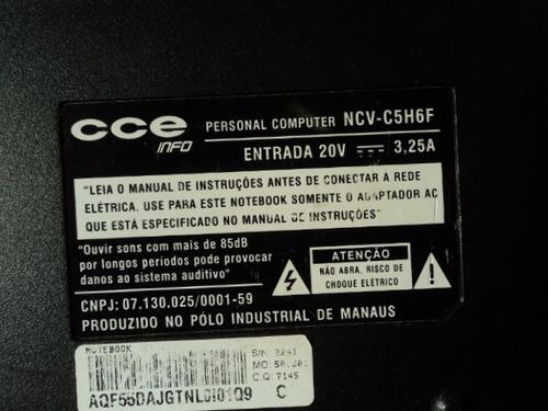 carcaça notebook cce modelo ncv-c5h6f