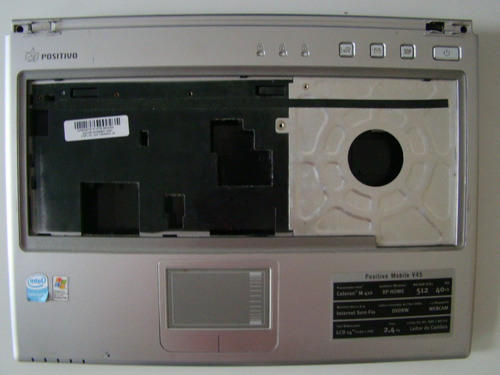 carcaca superior+touchpad notebook positivo v45