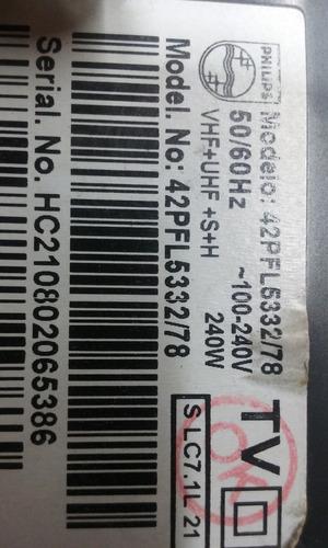 carcaça traseira tv phillips 42pfl5332/78 usada
