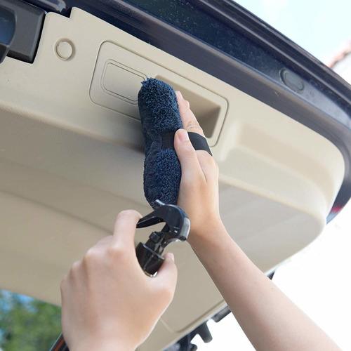 carcarez cera del coche de microfibra para pulir aplicador p
