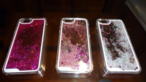 carcasa 3d funda estrellas con agua iphone 6, 6 plus + lapiz