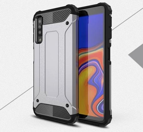 carcasa antichoque + vidrio templado 5d samsung a7 2018