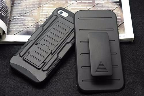 carcasa armadura alto impacto iphone + vidrio templado