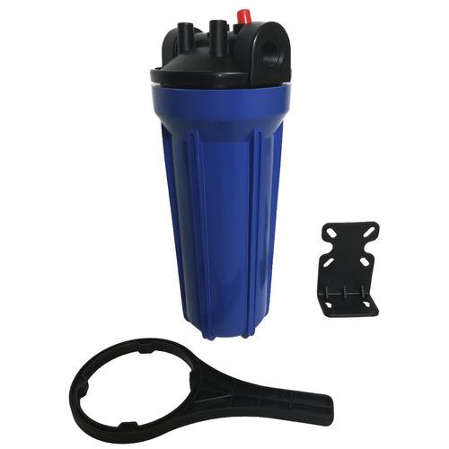 carcasa azul 10 pulgadas filtro agua cartucho carbon bloque