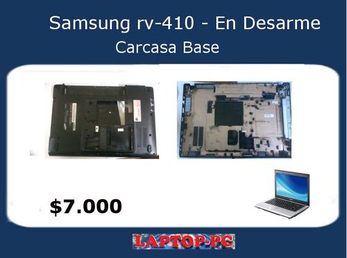 carcasa base samsung rv410 en desarme