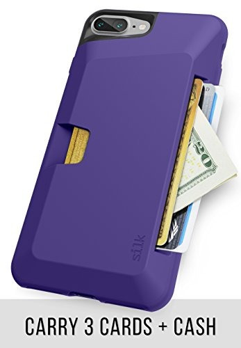 carcasa billetera silk delgada para iphone 7 plus/8 plus