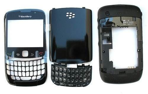carcasa blackberry 8520 original completa teclado mica tapa