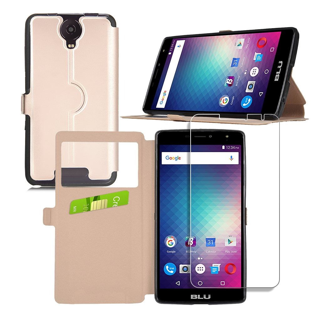 huge selection of e9f8d 8fd62 Carcasa Blu Studio Xl 2 Case Con Protector De Pantal Flip Sl