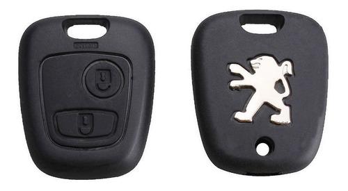 carcasa botones 206 207 control remoto llave peugeot b08a