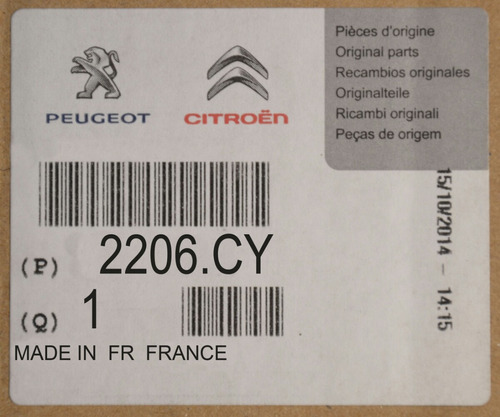 carcasa caja velocidades sincrónica manual 1.6 peugeot nueva