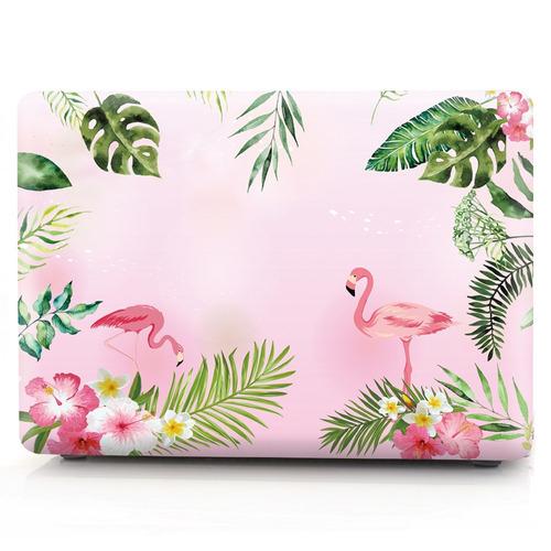 carcasa case funda macbook air 11 a1465 diseño flamingos