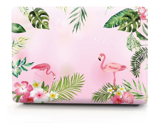 carcasa case funda macbook air 13,3 a1466 diseño flamingos