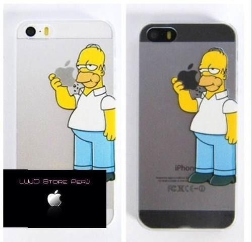 carcasa case protector iphone 4 4s transparente homero