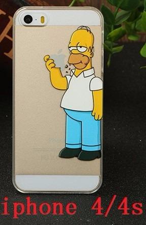 carcasa case protector iphone 4,4splus simpsom/ animal print