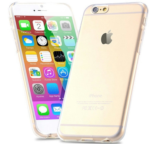 carcasa case protector transparente iphone 6 y 6 plus slim