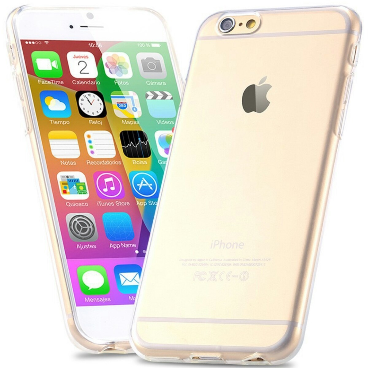 carcasa case protector transparente iphone 6 y 6 plus slim