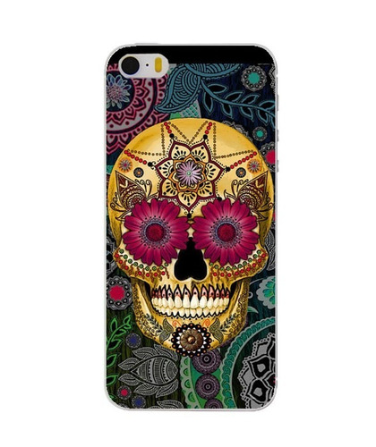 carcasa case sugar skull craneo vintage punk iphone 5, 5s