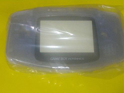 carcasa completa clear purple de gba gameboy advance retro