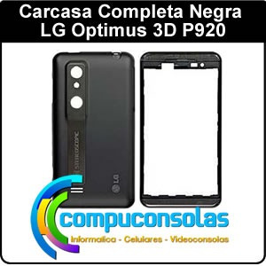 carcasa completa lg optimus 3d p920 negra